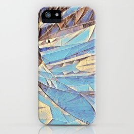 Waves cutting edge blue abstract iPhone Case