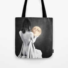 Moon Contemplation Tote Bag