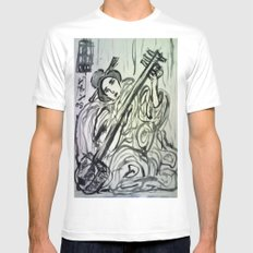 GEISHA MUSICIAN Mens Fitted Tee White SMALL