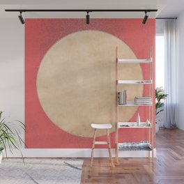 Imperial Coral - Moon Minimalism Wall Mural