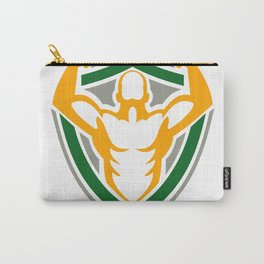 Strongman Flexing Muscles Crest Icon Carry-All Pouch