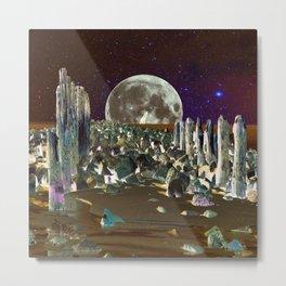 wolf moon nigth Metal Print