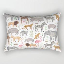 Safari Animals Rectangular Pillow