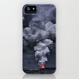 Kilauea Volcano at Kalapana 3e iPhone Case