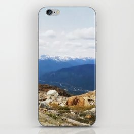 Many layers of a mountain view iPhone Skin