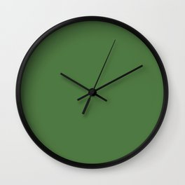 Fern Green - solid color Wall Clock