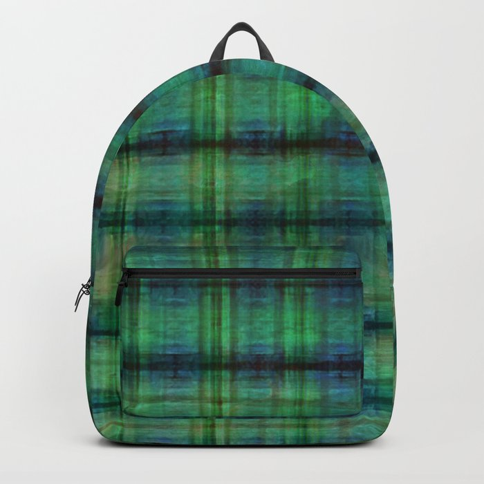 Forest Straw Plaid On Frozen Lake Backpack
