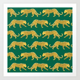 The New Animal Print - Emerald Art Print