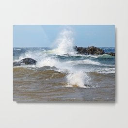 Surf's Spray Metal Print