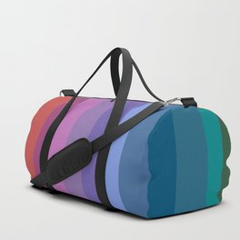 Modern Bright Rainbow Abstract Stripes Duffle Bag