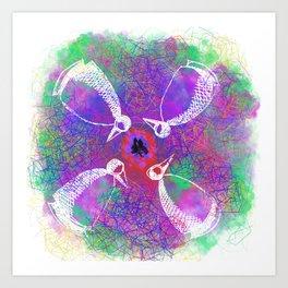 Metaphysical Penguin Nebula Art Print