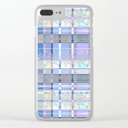 Abstract pattern with lace decorative bands. Clear iPhone Case