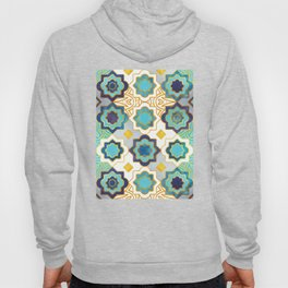 Marrakesh gold and blue geometry inspiration Hoody