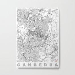 Canberra Map Line Metal Print