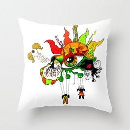 Colour Mix Throw Pillow