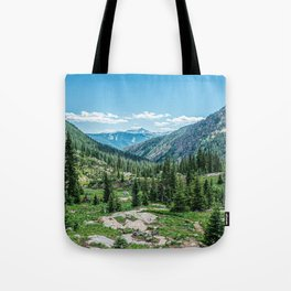 Colorado Wilderness // Why live anywhere else? Amazing Peaceful Scenery with Evergreen Dusted Hills Tote Bag