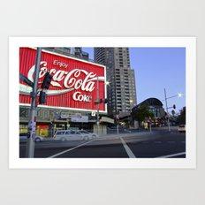 Coca Cola Billboard, Kings Cross, Sydney Art Print
