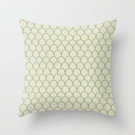 Geometric Clamshells on Cream Throw Pillow