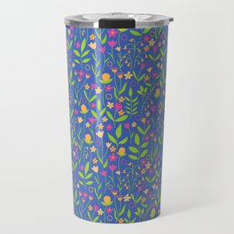 Pop Bold Playful Ditzy All Over Floral Pattern Travel Mug