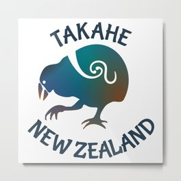 TAKAHE New Zealand Native bird Metal Print