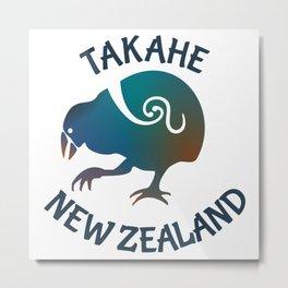 TAKAHE New Zealand Native bird Metal Print