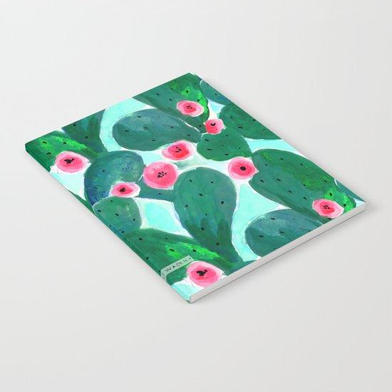 Jade Cactus Bloom Notebook