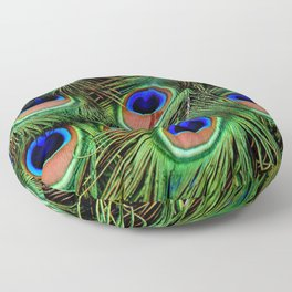 Peacock feathers | Plumes de Paon Floor Pillow