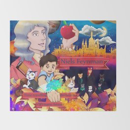 Niels Feynman | New comic cover Throw Blanket