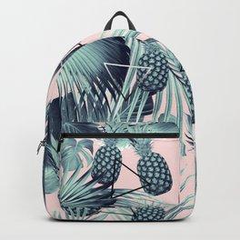 Tropical Pineapple Jungle Geo #2 #tropical #summer #decor #art #society6 Backpack