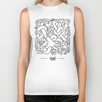 study Biker Tanks featuring Hand Study by Burnt Toast Creative