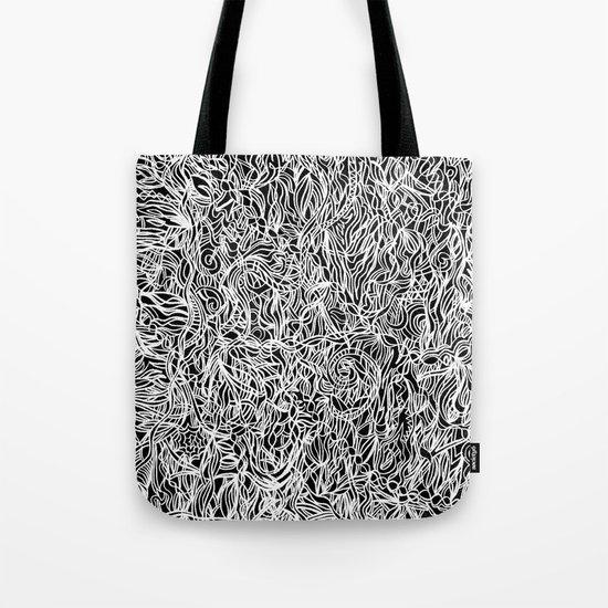 White and Black Tote Bag