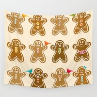 ginger Wall Tapestries featuring Ginger by Kakel