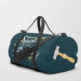 Smash the Patriarchy Feminist Art Nouveau Calligraphy Illustration Duffle Bag
