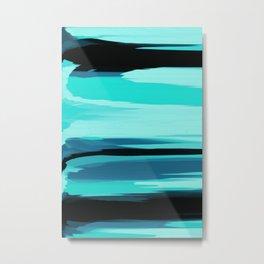 Soft Determination Aquamarine Metal Print