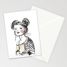 Gwen - Hipster Girl in Marker and Gouache Stationery Cards