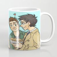 pie Mugs featuring DeanCas -Pie by KalesButt