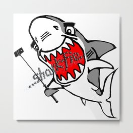 Sharkfie Metal Print