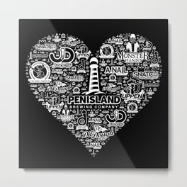 Pen Island Brewing Company Love Reverse Metal Print