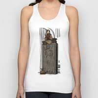 hallion Tank Tops featuring ....to find a way out! by Karen Hallion Illustrations