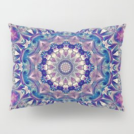 Flower Of Life Mandala (Periwinkle) Pillow Sham