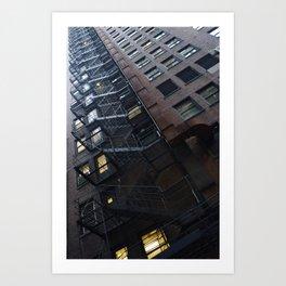 Chicago Endless Fire Escape Art Print