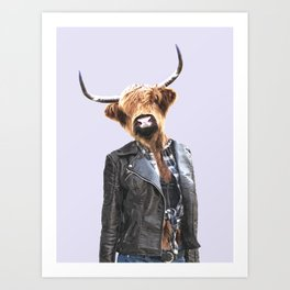 Cow Girl Art Print