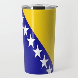 Flag of Bosnia – Bosnian,Bosniak,herzegovinian,bosna,Sarajevo,Balkan,yugoslavia. Travel Mug