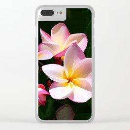 Love's First Blush Hawaiian Plumeria Clear iPhone Case