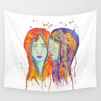 et Wall Tapestries featuring chantal et miriam by Laurie Art Gallery