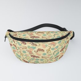 Gecko family in yellow Fanny Pack