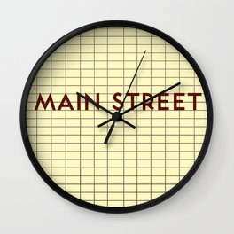 MAIN STREET   Subway Station Wall Clock