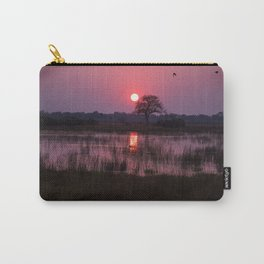 Botswana Africa Sunset over a Marsh Carry-All Pouch