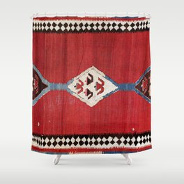 Bijar Antique Kurdish Persian Kilim Print Shower Curtain