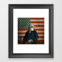 Official Portrait of Senator Silas Eagle Framed Art Print